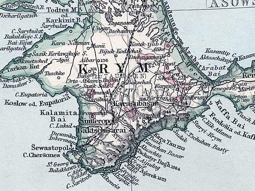 Krim deutsche ortsnamen karte